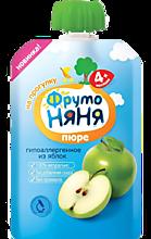Пюре «ФрутоНяня» Яблочное, натуральное, 90г