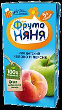 Сок детский «ФрутоНяня» Яблоко и персик, 200мл