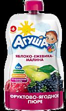 Фруктово-ягодное пюре «Агуша» Яблоко-ежевика-малина, 90г