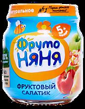 Пюре «ФрутоНяня» Фруктовый салатик, 100г