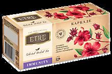 Напиток чайный «Etre» Immunity с каркадэ, 25 пакетиков, 37г