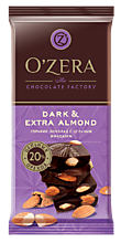Шоколад «OZera» Dark & Extra Almond, 90г
