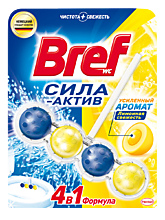 Чистящее средство для унитаза «Bref» Сила актив Лимонная свежесть