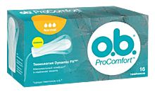 Тампоны «O.B.» Procomfort normal, 16шт
