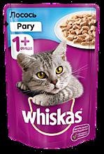 Влажный корм для кошек «Whiskas» рагус лососем, 85г