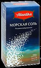 Соль морская «Atlantika» мелкая, йодированная, 500г