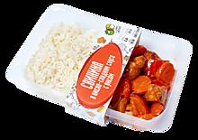 Свинина в кисло-сладком соусе с рисом, 330г