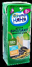 Йогурт питьевой «ФрутоНяня» Биолакт Чернослив и злаки, 200мл