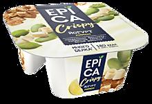 Йогурт 8.6% «Epica» Crispy с лимоном и смесью из семян тыквы, печенья и белого шоколада, 140г