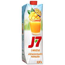 Нектар «J7» Апельсин Манго Марракуя, 970мл