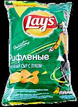 Чипсы «Lay's» рифленые Нежный сыр с луком, 90г