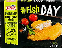 Рыбные порции из филе «Vici» Fish Day в кляре, 240г