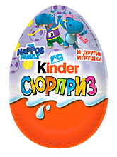 Яйцо шоколадное «Kinder Сюрприз» «Happos family» и др., 20г