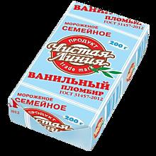 Мороженое «Чистая линия» Семейный пломбир ванильный, 200г