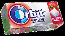 Жевательная резинка «Orbit» White mega Клубника, 16г