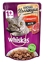Влажный корм для кошек «Whiskas» Мясная коллекция, говядина, 85г