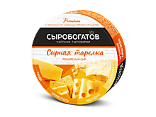 Сыр плавленый «Сыробогатов» «Сырная тарелка» круг, 130г