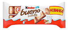Батончик «Kinder Bueno» White, 39г