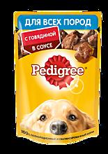 Влажный корм для собак «Pedigree» Говядина в соусе, 85г