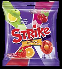 Карамель на палочке «Strike» с жевательной конфетой, 113г