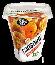 Биойогурт густой 5% «Слобода» «Семейный завтрак» с гранолой, грецким орехом и изюмом, 250г
