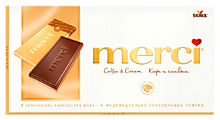 Шоколад «Merci» молочно-кофейный, 100г