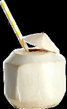 Очищенный кокос питьевой, с трубочкой