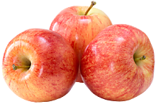 Яблоки Гала поштучно, 0,2 - 0,25кг