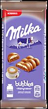 Шоколад молочный пористый «Milka Bubbles» со вкусом Капучино, 97г