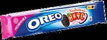 Печенье «Oreo» с какао и начинкой со вкусом клубники, 95г