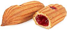 Печенье «Мини-эклеры с брусничной начинкой» (коробка 2кг)
