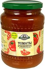 «Домашние заготовки», томаты очищенные в томатной мякоти, 680г