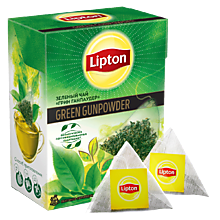 Чай «Lipton» GreenGunpowder, 20 пирамидок
