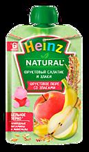 Пюре фруктово-зерновое «Heinz» Фруктовый салатик и злаки, 90г