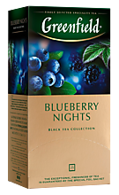 Чай черный «Greenfield» Blueberry Nights, 25 пакетиков, 50 г