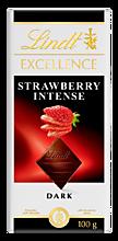 Темный шоколад Excellence «Lindt» с кусочками клубники, 100г