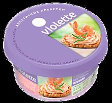 Сыр творожный 70% «Violette» с креветками, 140г