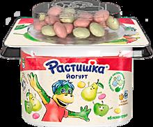 Йогурт 3% «Растишка» яблоко-груша с печеньем, 118г