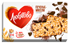 Печенье-мюсли «Любятово» злаковое, с шоколадом, 120г
