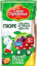 Пюре «Сады Придонья» Яблоко-груша-слива, 125мл