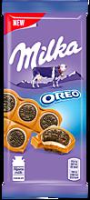 Шоколад молочный «Milka» с печеньем Oreo, 92г