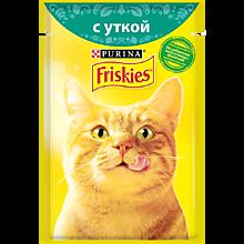 Влажный корм для кошек «Friskies» с уткой, 85г