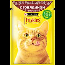 Влажный корм для кошек «Friskies» с говядиной, 85г