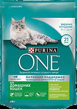 Сухой корм для кошек «Purina ONE» с индейкой, 200г
