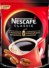 Кофе растворимый «Nescafe Classic» с добавлением натурального жареного молотого кофе, 75г