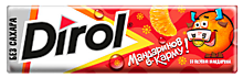 Жевательная резинка «Dirol» без сахара со вкусом мандарина, 13г