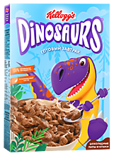 Готовый завтрак «Dinosaurs» Шоколадные лапы и клыки, 220г