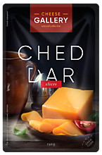 Сыр 50% «Cheese Gallery» Чеддер красный в нарезке, 150г