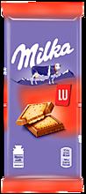 Шоколад молочный «Milka» с печеньем LU, 87г