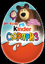 Яйцо шоколадное «Kinder Сюрприз» «Маша и медведь» и др., 20г